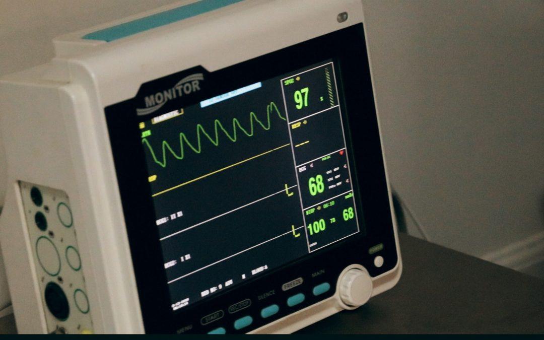 Monitor mit Herzfrequenz