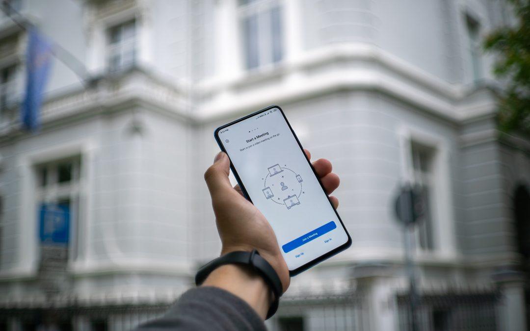 Online-Meeting Software Smartphone